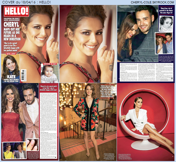 COVER : Cheryl pose pour Hello! en Avril 2016