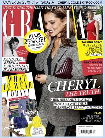 COVER & PHOTOSHOOT : Cheryl pose pour Grazia et Mariano Vivanco en Janvier 2016