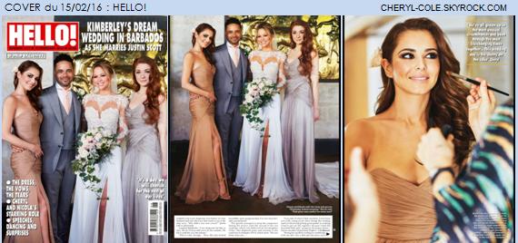 COVERS : Cheryl pose pour Grazia et Hello! en Février 2016