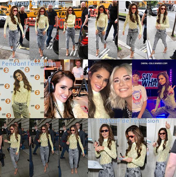 - 15/06/2019 : Cheryl se rendant, assistant, quittant l'émission BBC Radio 2 à Londres, UK ! Une tenue qui change d'ordinaire que j'aime bien c'est un top. -