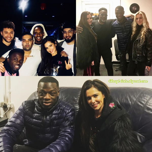 - 25/01/2018 : Cheryl se trouvait dans le studio F/H Block en compagnie de Naughty Boy et Rak-Su à Londres ! -