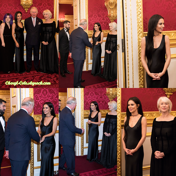 "- 08/02/2018 : Cheryl assistait à la réception ""Investir dans les Futures"" pour The Prince's Trust au St James's Palace à Londres ! -"
