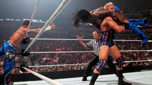 Tag Team Championship : AirBoom vs Dolph Ziggler & Jack Swagger