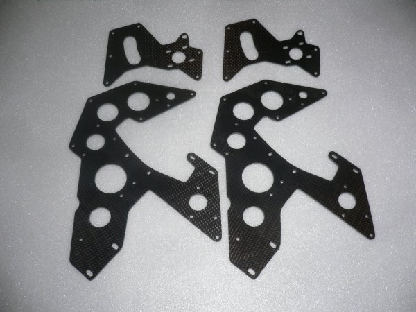CHASSI CARBONE POUR RAPTOR 60 ou 90