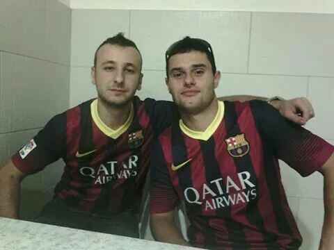 Avec mon amis adriano viva barcelona
