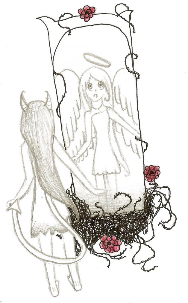 Ange d mon dessins - Dessin ange demon ...