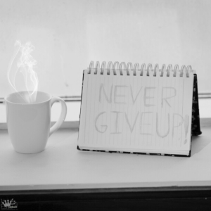 never give up ...!♥