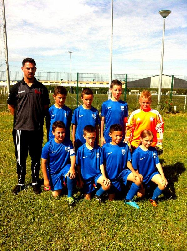 16/06/13 Tournoi de foot de Trémery, équipe U11.