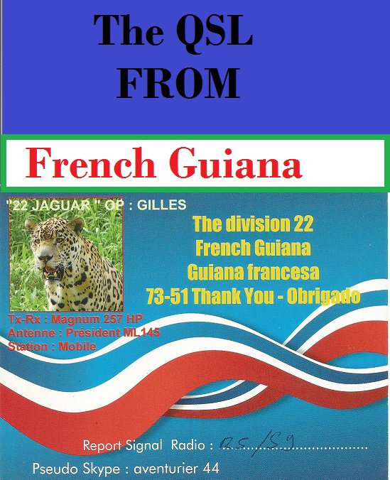 French Guyana QSL