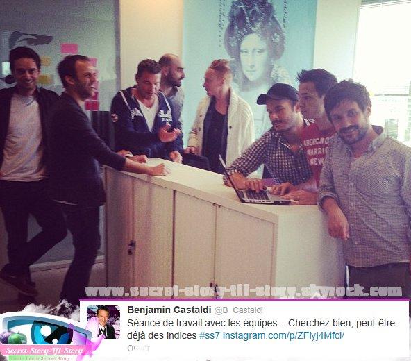 Exclu: Premiers tweets de Benjamin Castaldi pour Secret Story 7!