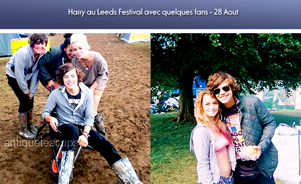 Photoshoot de leur livre + Harry au Leeds Festival