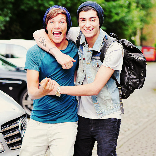 Louis & Zayn in London.