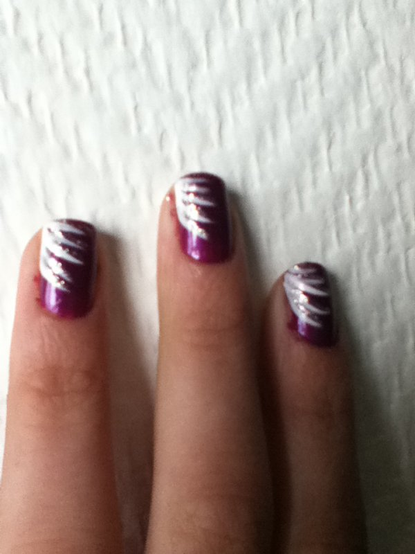 nail art feu d'artifice!!!