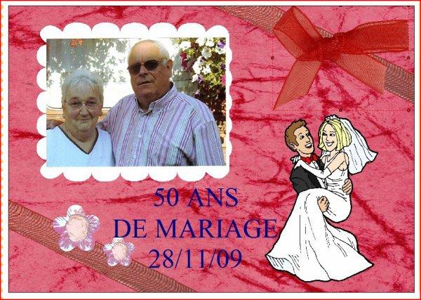 bon anniversaire de mariage 50 ans l gros bisous l blog de tatanounou88350. Black Bedroom Furniture Sets. Home Design Ideas