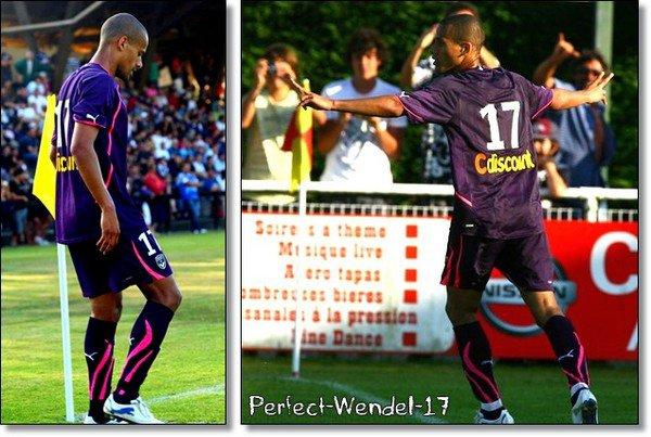 Géraldo Wendel, déjà deux buts inscrits pour lui, en deux matchs amicaux ♥ Son premier but sera inscrit contre Lille, & son deuxième contre Ajaccio suite à un pénalty.