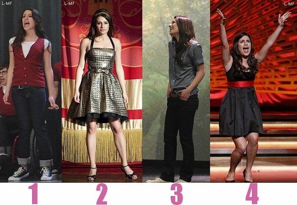Vote pour tes tenues préférées de Rachel Berry - Partie 1 - Saison 1