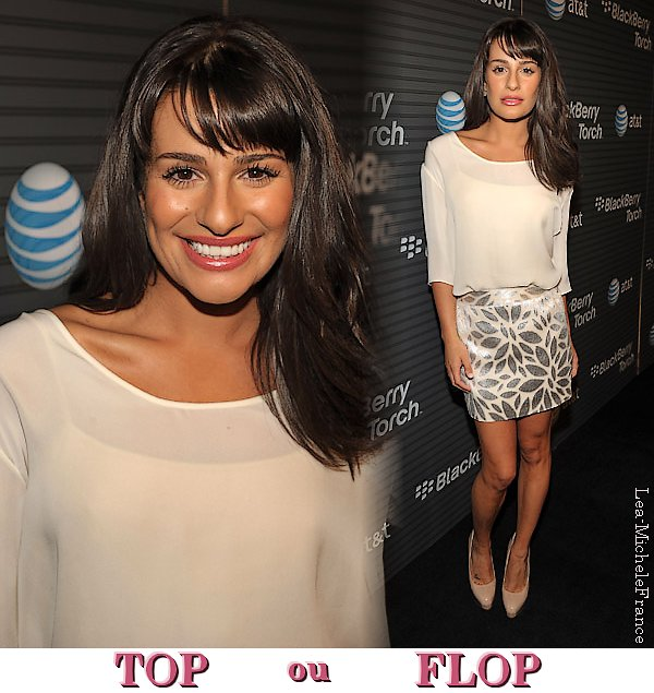 FLASHBACK - Lea à la Blackberry Torch Launch Party en 2010. TOP ou FLOP ? (perso : SUBLIME !!!)