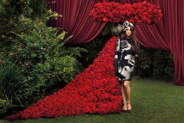 Découvrez ou re-découvrez un photoshoot assez récent de Lea pour Harper's Bazaar de septembre. Vos avis ? (perso : sublime !!!)