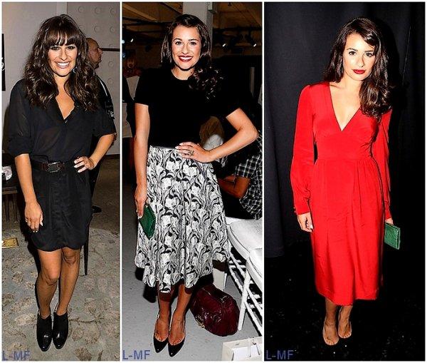 Lea lors de la Fashion Week 2011. 3 évènements, 3 tenues. Votre avis sur les tenues, votre préférée ???