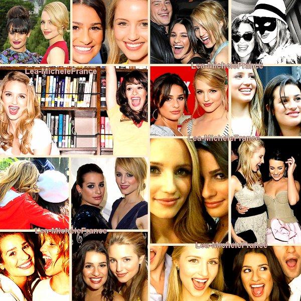 Aperçu d'une très belle amitié, celle de Dianna Agron et Lea Michele. Ennemies à l'écran mais amies à la ville.