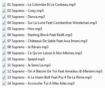voici les 2 dernier album de soprano pour le moment les 2 meilleur pour moi<3<3