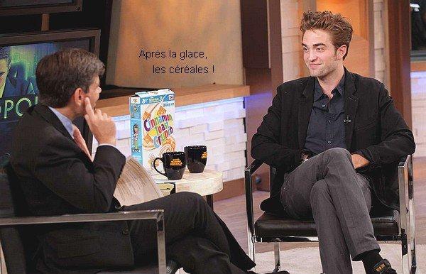 .  Robert est arrivé le 15 août au Good Morning America avec le sourire ! + des stills de l'émission.