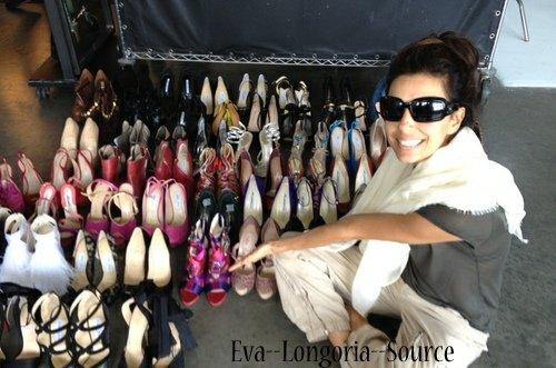 Eva Longoria Dit :: «Au paradis avec toutes ces chaussures! :: «