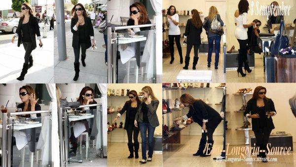 De retour de Londres, Eva Longoria a retrouvé une amie mercredi 8 septembre pour un déjeuné au restaurant Vila Blanca suivit d'une virée shoping: