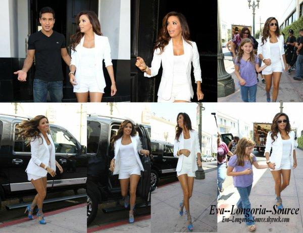 Tournage du reality show d'Eva Longoria et Mario Lopez : Voici quelques photos du tournage de la nouvelle télé réalité d'Eva Longoria et Mario Lopez, appellé H8ter, qui se déroulera dans le restaurant Beso d'Eva sur Hoolywood Boulevard ;