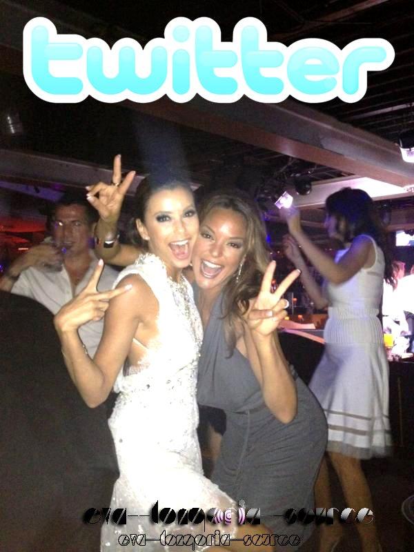 """Eva a posté sur twitter : Eva danse Jimmy Choo hors! Manquant Monaco déjà! Eva dit  : """" Je m'ennuie déjà """""""