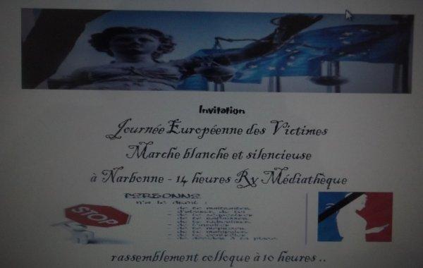 INVITATION JOURNEE EUROPEENNE DES VICTIMES  22 février 2015