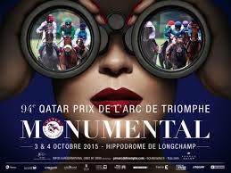 Dimanche 4 octobre - Quinté  - Longchamp - Qatar Prix De L'Arc De Triomphe - 18 partants - 2400m - Grande piste - piste en herbe - corde à droite - lice à 0 mètre - Groupe I - 5.000.000 - attention le 4 est non-partant