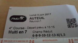 Dommage pour Auteuil hier !!! du coup juste un 2/4 bof !!! pas mis Vicking de Balme. Ci-dessous mardi 6 Juin Saint-Cloud