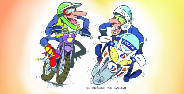 MOTARDS BREVES DE VOLANT