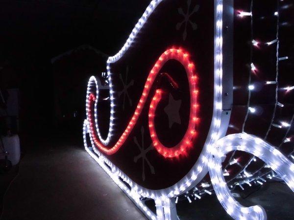 Traineau du Père Noël : Prêt pour le décollage.