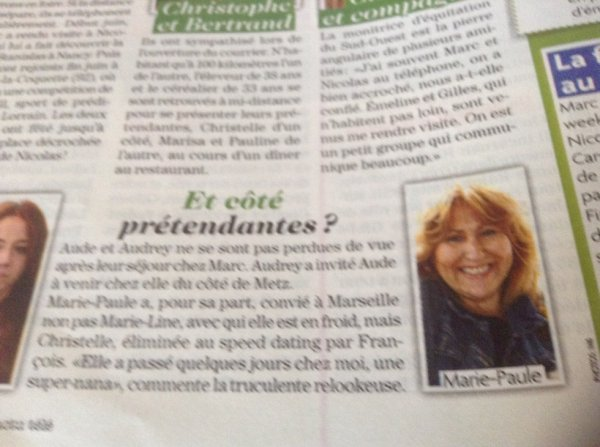 Télé Star cette semaine Ma page FB: Marie Paule L Amour est dans le Pre
