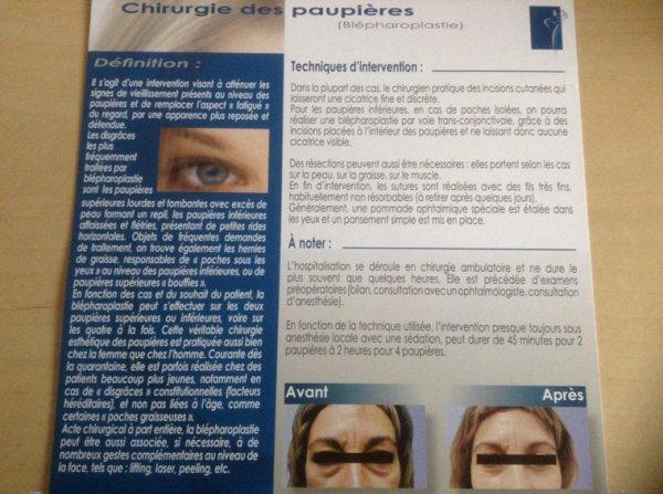 CHIRURGIE DES PAUPIÈRES (BLEPHAROPLASTIE)