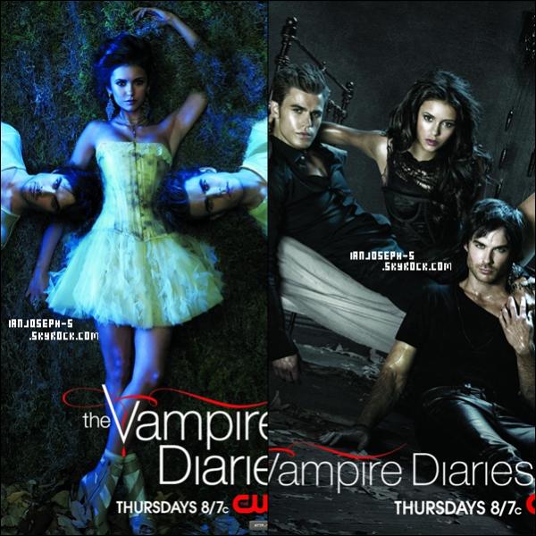 Posters promotionels de la saison 2 de TVD. J'adore, j'espère les trouvers très vite dans des magazines   $)