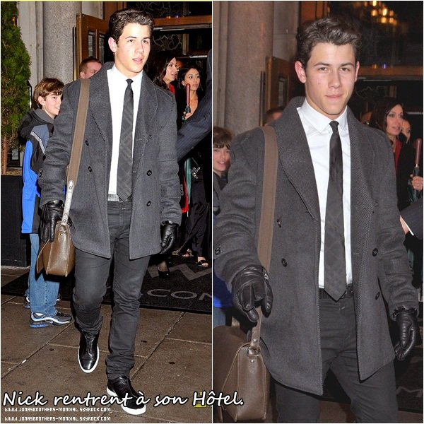 Le 24 Février 2011 : Joe & Ashley ont été vu à Beverly Hills. Le même jour Joe & Ashley ont été vu à Los Angeles. Le 24 Février 2011 : Nick Jonas rentrent dans son hôtel à Washington, D.C.