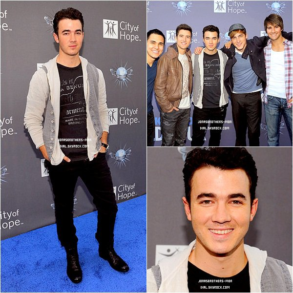 """Le 7 mai 2011 : Joe a été vu à Beverly Hills.  Le 7 mai 2011 : Kevin était  à  l'événement """"Spirit Of Life Award 2011""""  en Californie."""