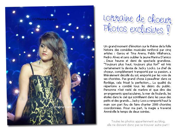 LORRAINE DE CHOEUR PHOTOS EXCLUSIVES
