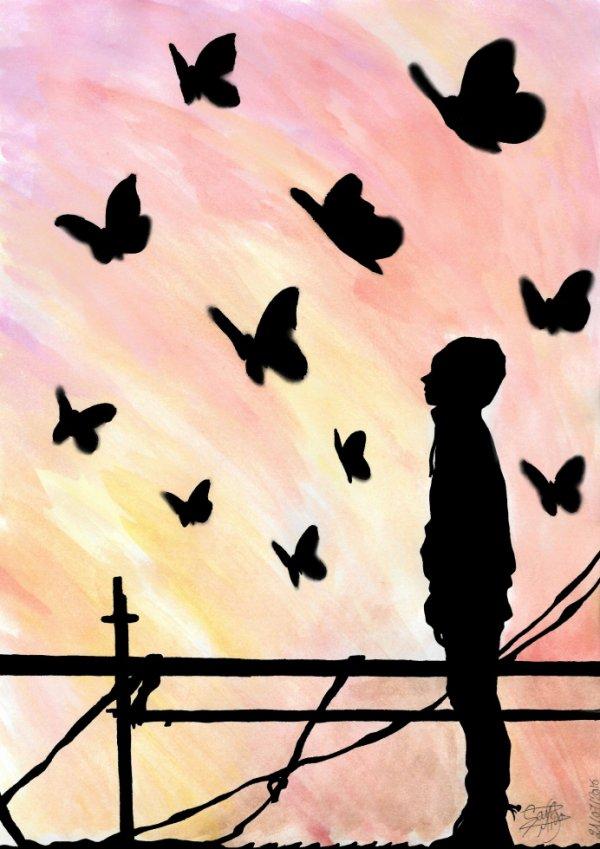 Dessin 298 • Butterfly