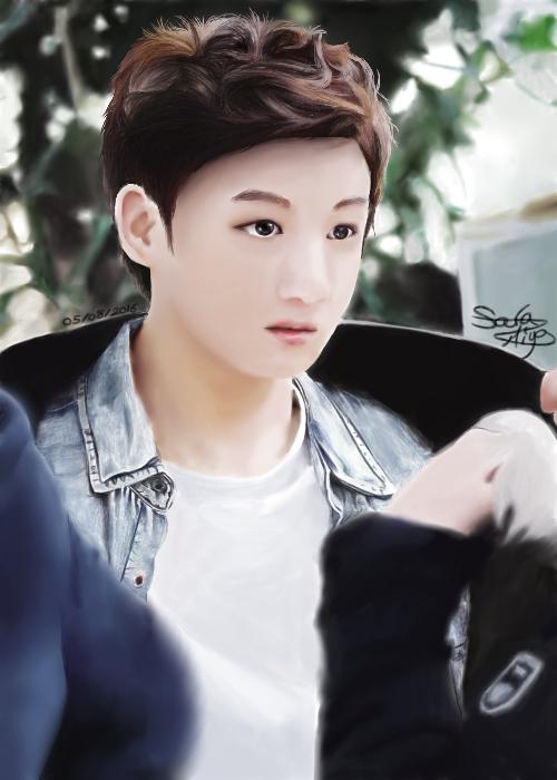 Dessin 302 • JungKook digital réalisme