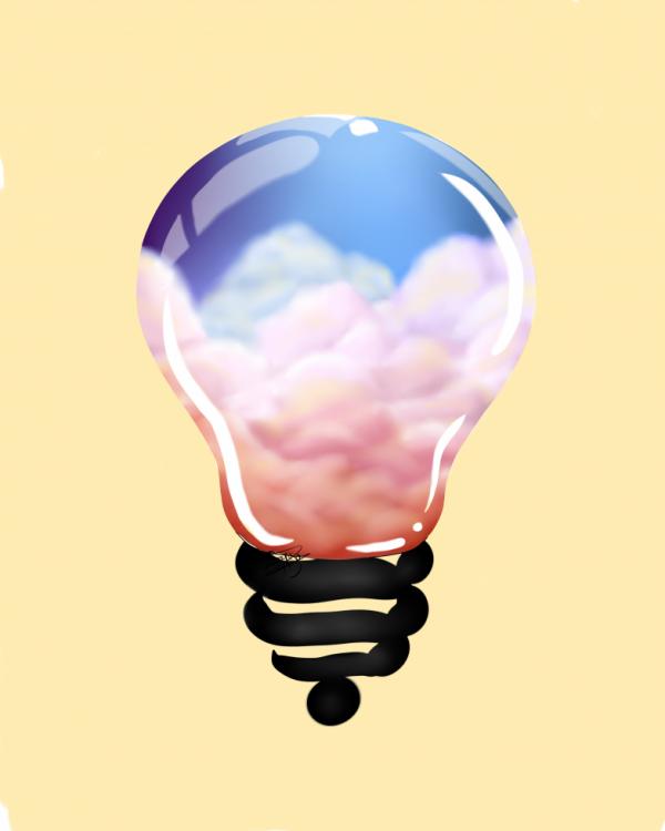 Dessin 350 • Sky in bulb