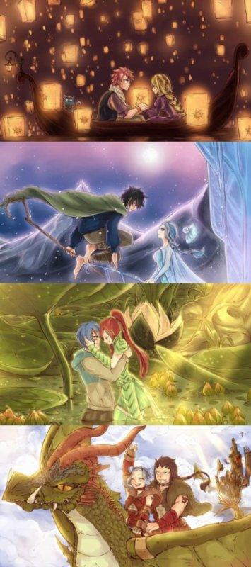 Mes couples fairy tail préferé!