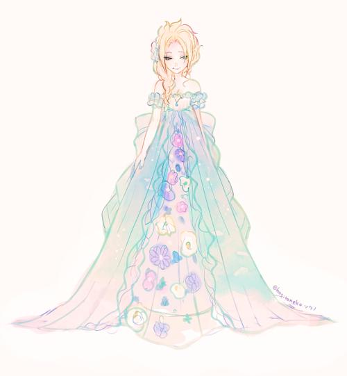 Si la reine des neiges était en faite la reine des fleurs