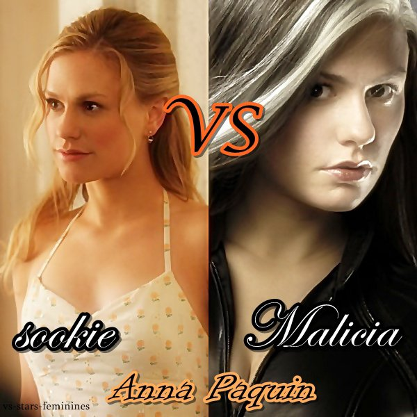 duel Anna Paquin : Sookie (true blood) vs Malicia (x-men)