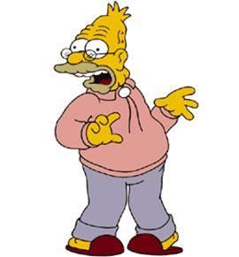 Abraham simpson bienvenue dans le monde des simpsons - Tout les personnage des simpson ...