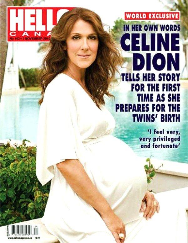 nouvelle photo de céline enceinte