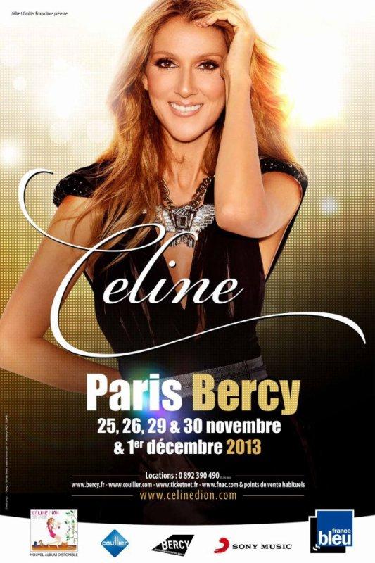 Céline dion de retour pour une série de concert du 25 novembre  au 1er décembre a bercy!